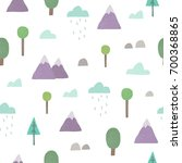 cute nature background.... | Shutterstock .eps vector #700368865