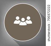 team work sign. vector. white...   Shutterstock .eps vector #700372222