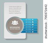 vector infographic template for ... | Shutterstock .eps vector #700372642