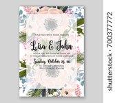 wedding invitation template... | Shutterstock .eps vector #700377772