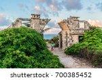 the temple of ixchel at beach... | Shutterstock . vector #700385452