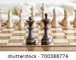 beautiful wooden chess figures... | Shutterstock . vector #700388776