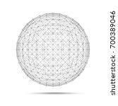 geometric wire mesh sphere...   Shutterstock . vector #700389046