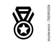 black simple medal icon  winner ...   Shutterstock .eps vector #700393336