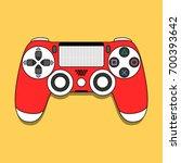 dualshock 4 gamepad for... | Shutterstock .eps vector #700393642