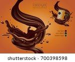 design of delicious chocolate... | Shutterstock .eps vector #700398598