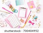 clipboard mockup and school... | Shutterstock . vector #700404952