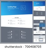 one page website design... | Shutterstock .eps vector #700408705