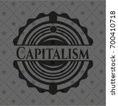 capitalism black emblem | Shutterstock .eps vector #700410718