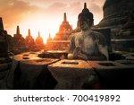 amazing sunrise view of...   Shutterstock . vector #700419892