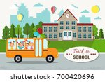 welcome back to school vector... | Shutterstock .eps vector #700420696