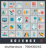 collection of scientific icons. ... | Shutterstock .eps vector #700430242