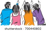 group of friends pointing... | Shutterstock .eps vector #700440802