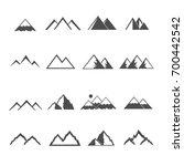 mountain icons set vector | Shutterstock .eps vector #700442542