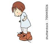 vector illustration of little... | Shutterstock .eps vector #700445026