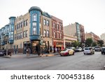 chicago  il  august 19  2017 ... | Shutterstock . vector #700453186