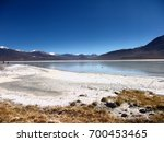 bolivia mountains and lake... | Shutterstock . vector #700453465