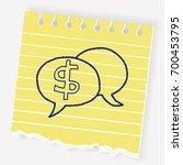 talk money doodle | Shutterstock .eps vector #700453795