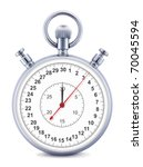 stopwatch  isolated on the...   Shutterstock . vector #70045594