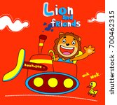 lion and friends   vector... | Shutterstock .eps vector #700462315