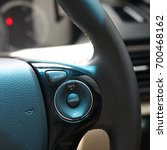 Small photo of technology cruise control panel mode of functional drive on steering wheel for modern vehicle car