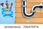 vector illustration of plumbing ... | Shutterstock .eps vector #700470976