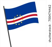 flag of cape verde   cape verde ... | Shutterstock .eps vector #700474462