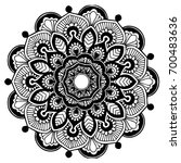 mandalas for coloring book.... | Shutterstock .eps vector #700483636
