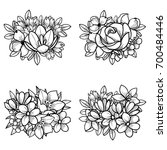 flower set | Shutterstock . vector #700484446