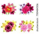 flower set | Shutterstock . vector #700484506