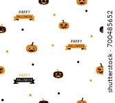 happy halloween seamless... | Shutterstock .eps vector #700485652
