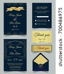 wedding card is a curve pattern. | Shutterstock .eps vector #700486975