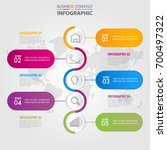 business infographics  strategy ... | Shutterstock .eps vector #700497322