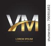 initial letter vm logotype... | Shutterstock .eps vector #700501852