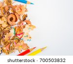 colorful pencils with colorful... | Shutterstock . vector #700503832