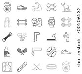 racetrack icons set. outline... | Shutterstock .eps vector #700506532