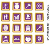 apiary tools icons set in... | Shutterstock .eps vector #700506538
