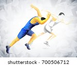 runner  jogging  sprinter... | Shutterstock .eps vector #700506712