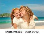 mom and daughter having fun | Shutterstock . vector #70051042