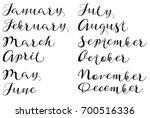 months of year. handmade names... | Shutterstock . vector #700516336