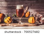 craft beer flight  halloween... | Shutterstock . vector #700527682