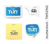 vector sticker for text | Shutterstock .eps vector #70052962
