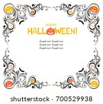 happy halloween  celebration... | Shutterstock .eps vector #700529938