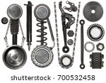 old auto spare parts car on the ... | Shutterstock . vector #700532458