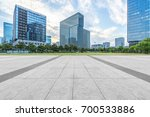 empty brick floor with modern... | Shutterstock . vector #700533886