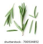 Fresh Rosemary On White...