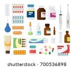 Set Of Medicine Bottles With...