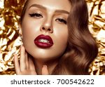 beautiful girl in hollywood... | Shutterstock . vector #700542622