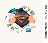 businessman open shirt and show ... | Shutterstock .eps vector #700547182