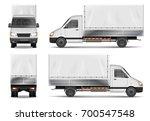 semi truck isolated on white.... | Shutterstock .eps vector #700547548
